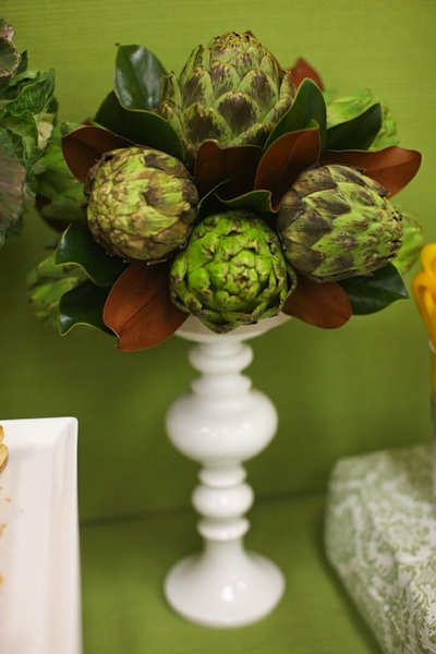 Veggie wedding decor for Artichoke decoration