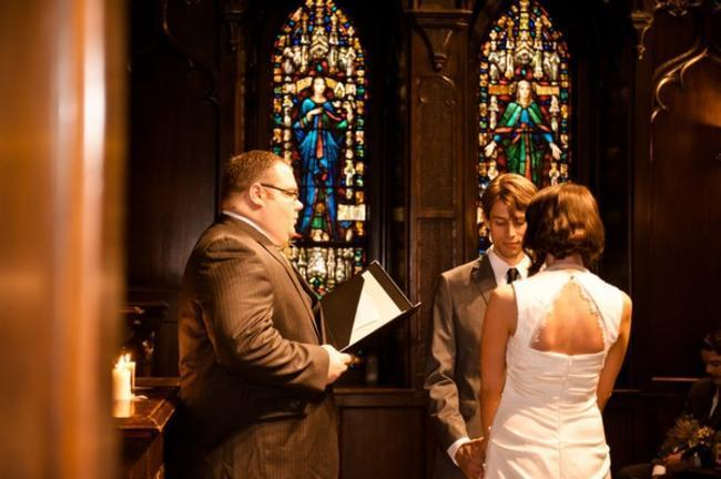 Philadelphia church wedding ceremony
