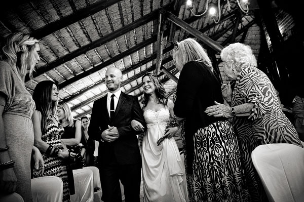 Intimate South African lodge wedding ceremony