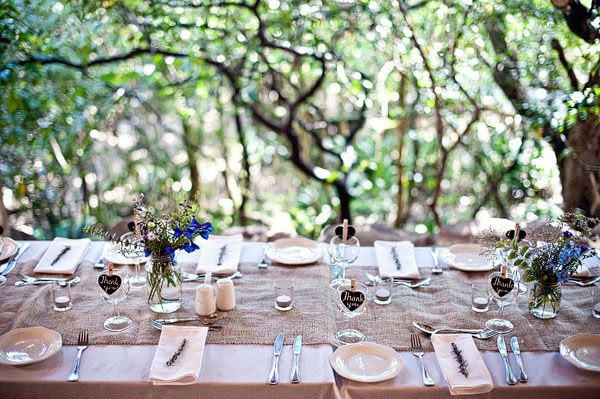 rustic South African wedding reception
