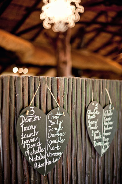 heart shaped chalkboard seating chart