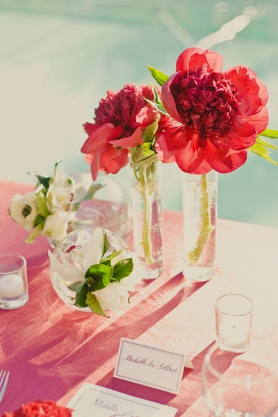 The gallery for gt simple red flower centerpieces