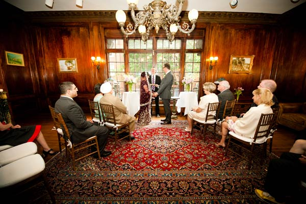 cozy b&b wedding ceremony