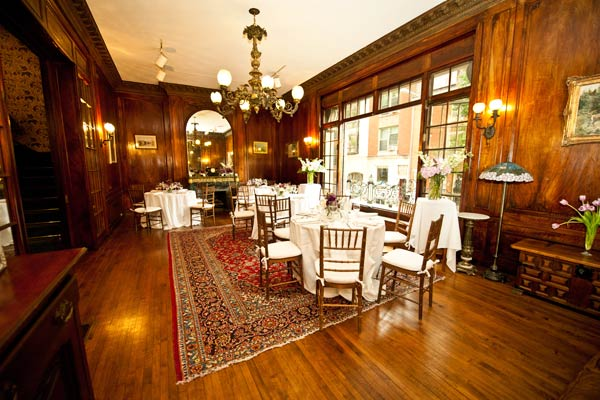 b&b dining room wedding reception