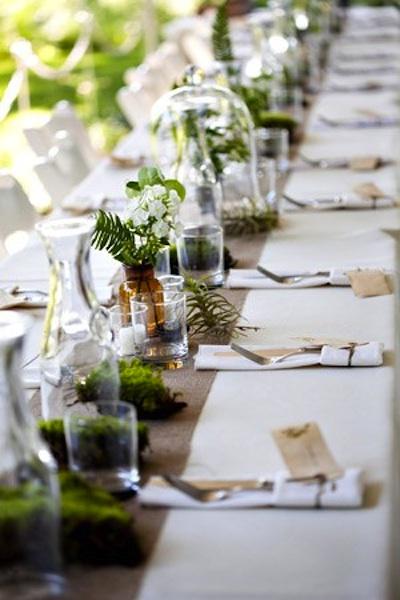 Woodland weddings - Deco de table theme nature ...