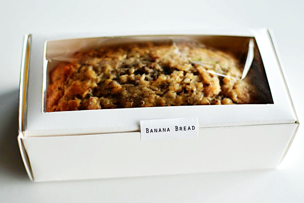 banana bread favors