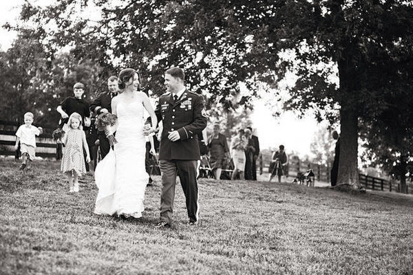 farm wedding recessional