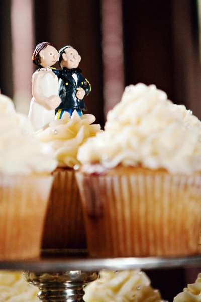 clay bride and groom cake topper