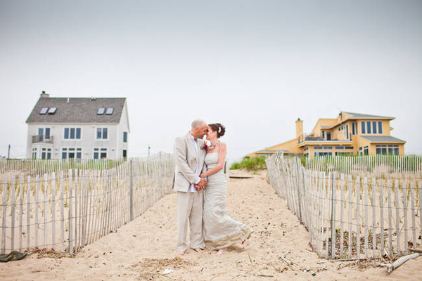 Intimate beach house wedding