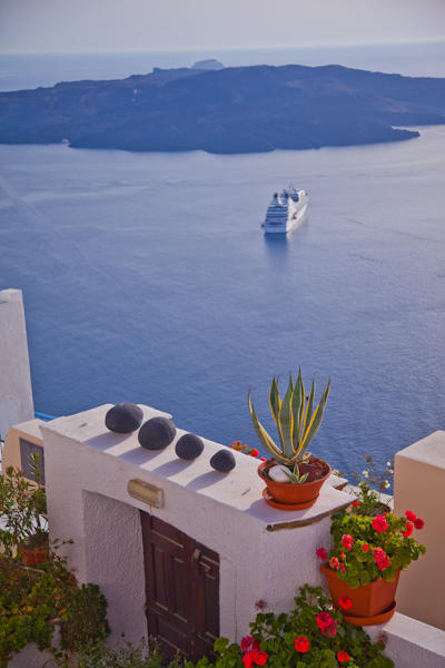 view of the sea in Santorini