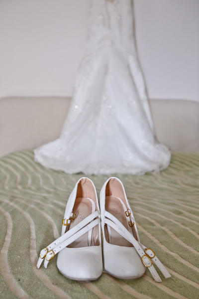 white wedding shoes with straps