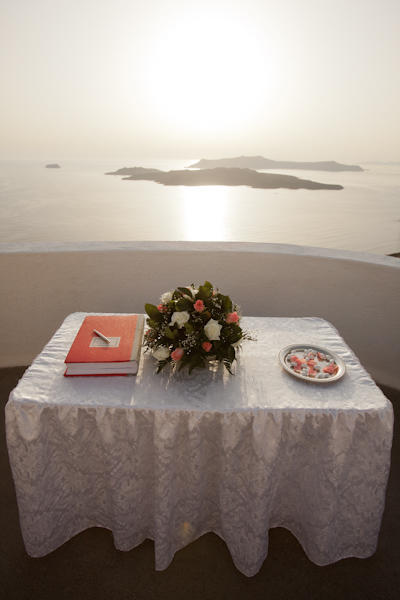 wedding table overlooking the sea