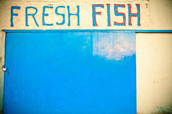 Fresh Fish sign in Santorini