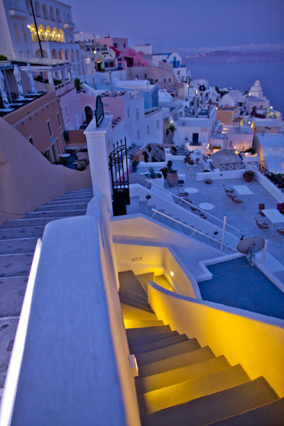 Santorini at night