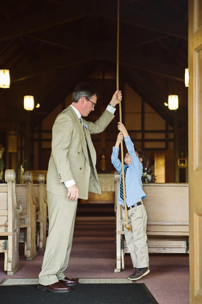 young guest ringing church bells