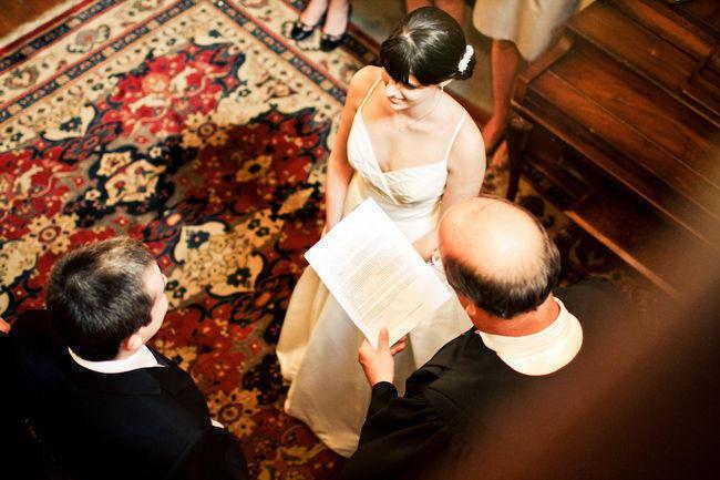 Dutch historic home wedding ceremony