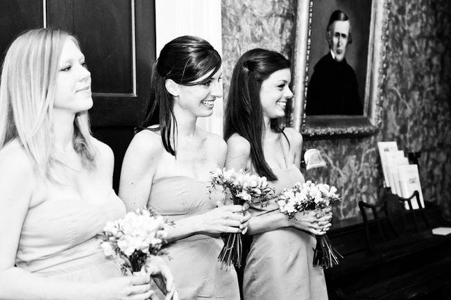 bridesmaids at historic home wedding