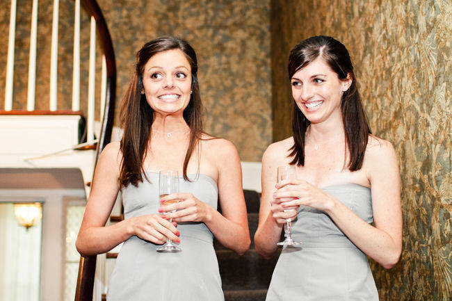 bridesmaids giving speech