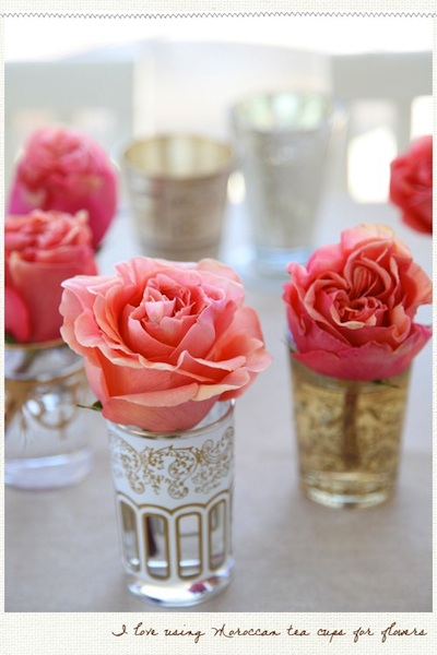 Simple Flower Centerpieces