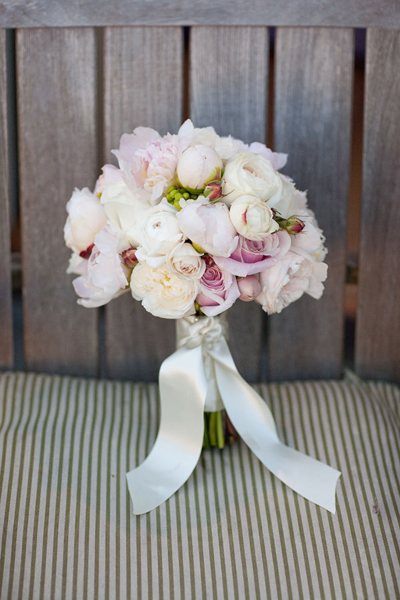pale rose and peony wedding bouquet