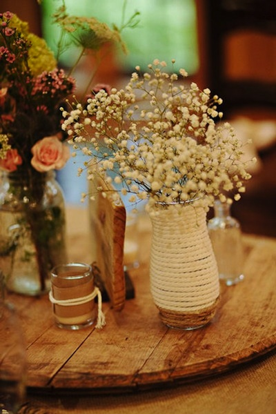 Wedding flowers baby s breath