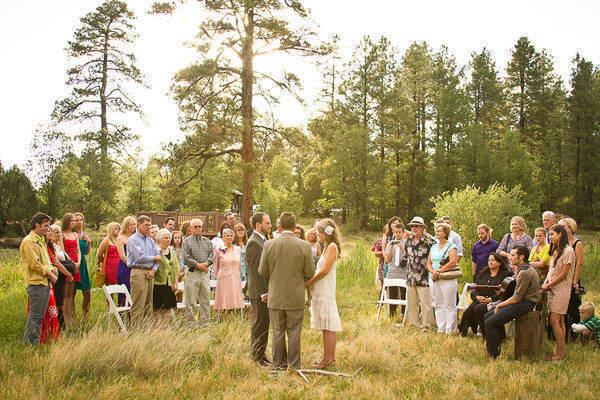 Intimate Arizona Park wedding ceremony