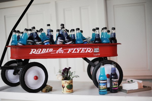 jones soda in radio flyer wagon