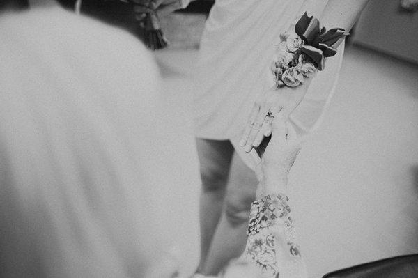 Bride wrist corsage