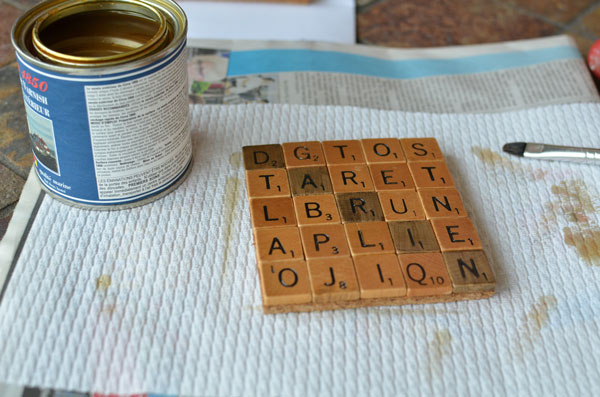scrabble coaster diy