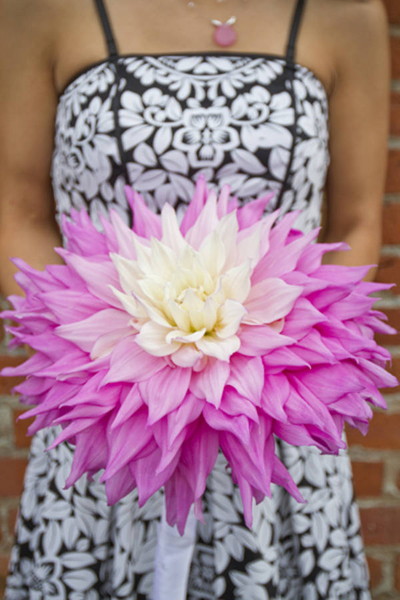 Giant flower bouquet