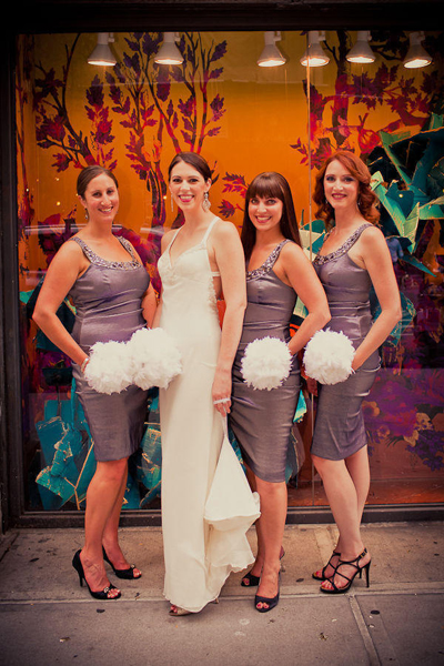 bride and bridesmaids in Soho