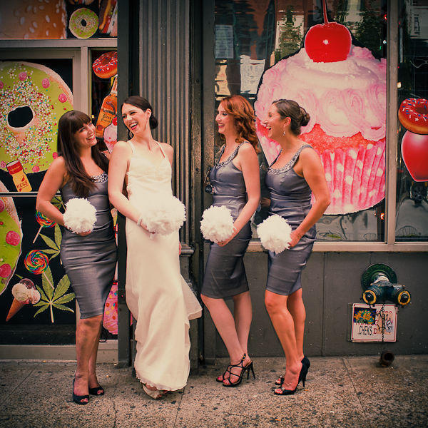 bridal party portrait in Soho