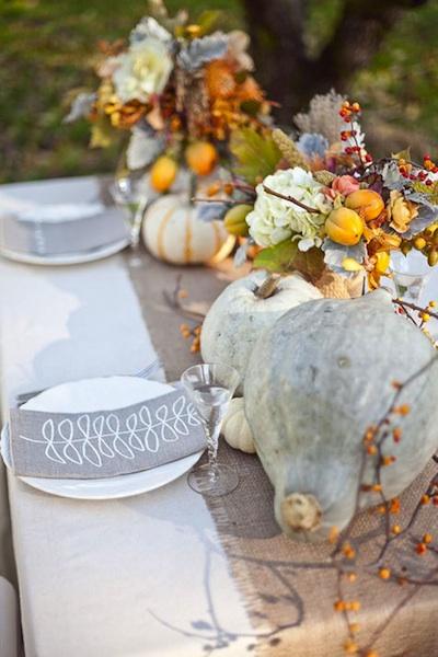 Autumn wedding centerpiece ideas - Centre de table automne ...