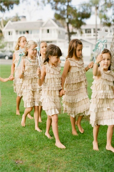 Flower girl ideas for Little flower girl wedding dresses