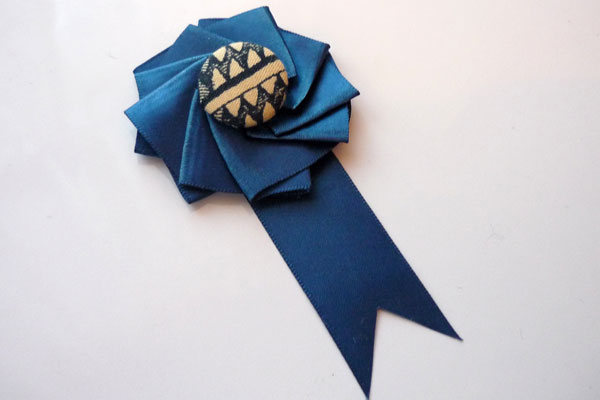 Finished Ribbon Medallion