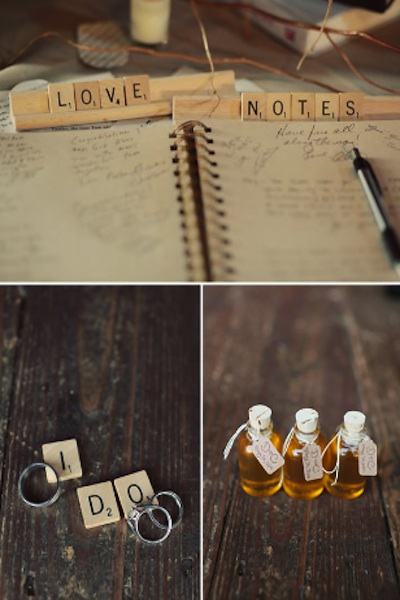Wedding Decor Trend Scrabble Tiles
