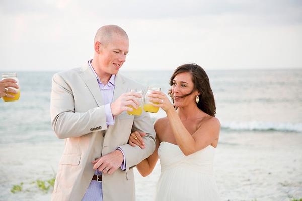 sunrise wedding mimosas