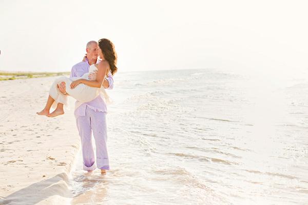 sunrise wedding on the beach