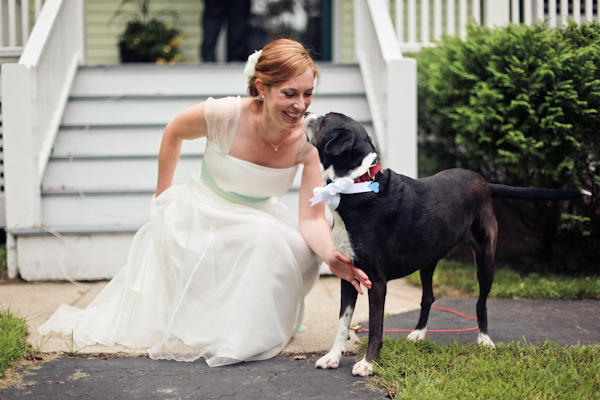 bride and dog ring bearer