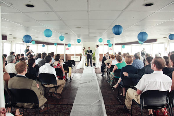 East Coast ferry wedding ceremony