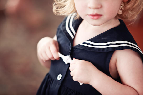 flower girl in sailor dress