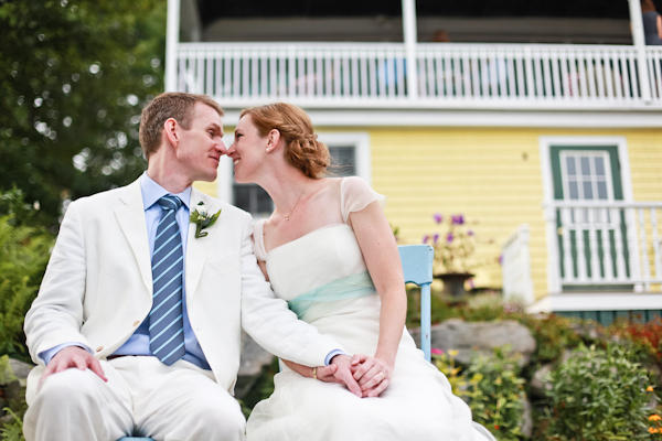 Maine wedding couple