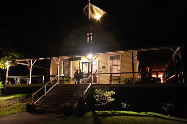 fifth maine regiment museum lit up at night