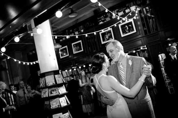 father daughter dance in bookstore