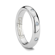 tungsten ring with diamonds