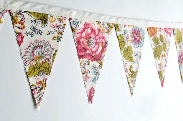 floral rose bunting