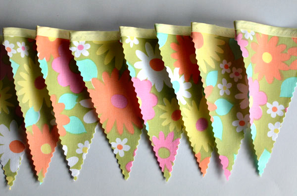 groovy bunting