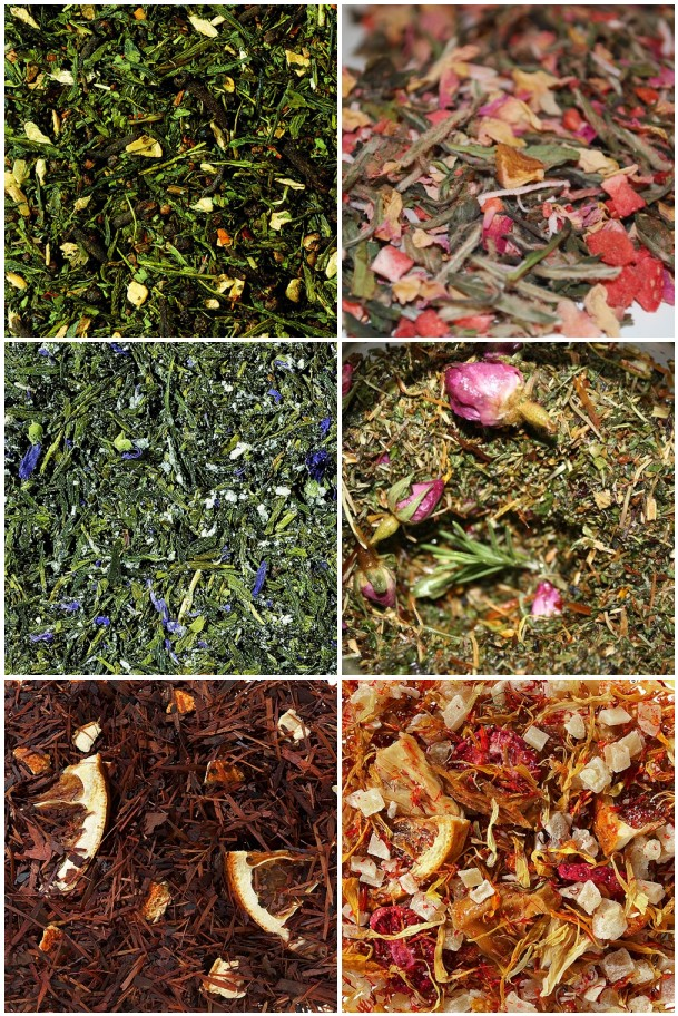 tea leaves mosaic