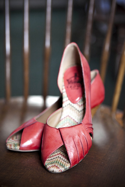 red peep toe wedding shoes