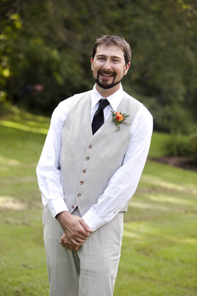 Groom in J. Crew suit
